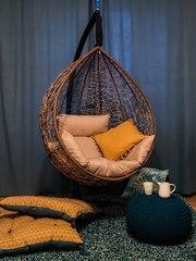 Фото отзыва о товаре Подвесное кресло-кокон SEVILLA горячий шоколад + каркас