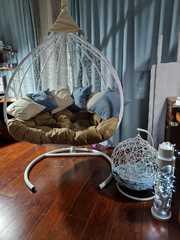 Фото отзыва о товаре Подвесное двухместное кресло-кокон FISHT белое + каркас