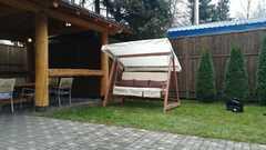 Фото отзыва о товаре Садовые качели СЕЛЕНА 3.0 (трехместные) деревянные, с покраской