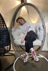 Фото отзыва о товаре Подвесное кресло-кокон Derbent коричневое + каркас