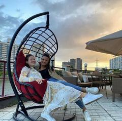 Фото отзыва о товаре Подвесное кресло-кокон БАРСЕЛОНА ПЛЮС + каркас