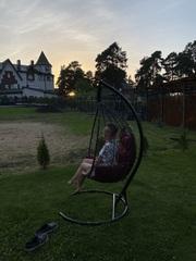 Фото отзыва о товаре Подвесное кресло-кокон SEVILLA ELEGANT коричневое + каркас