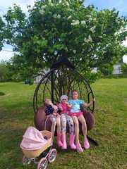 Фото отзыва о товаре Подвесное двухместное кресло-кокон FISHT коричневое + каркас