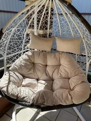 Фото отзыва о товаре Подвесное  двухместное кресло-кокон FISHT горячий шоколад + каркас