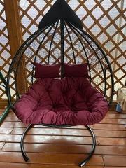 Фото отзыва о товаре Подвесное двухместное кресло-кокон FISHT черное + каркас