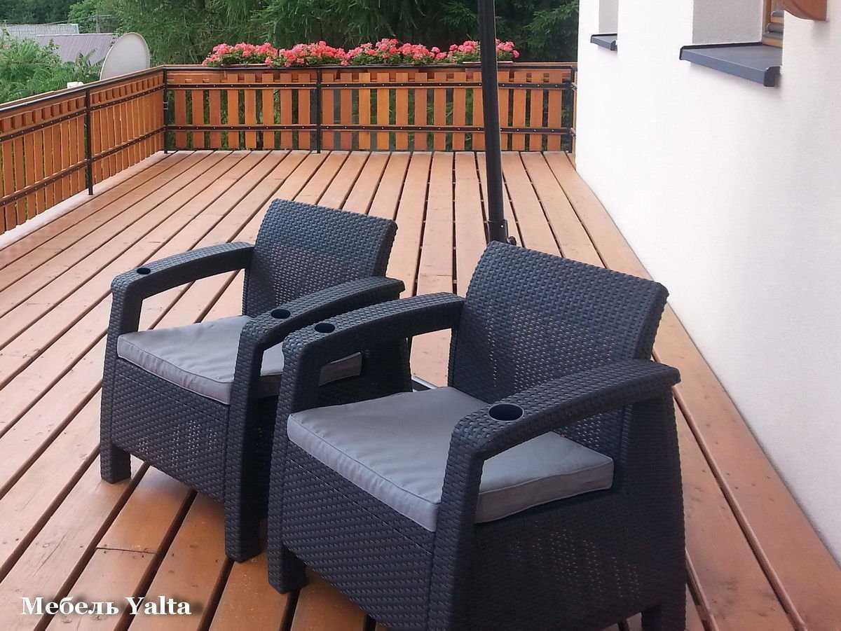 Комплект кресел для отдыха yalta double set купить в интерне.