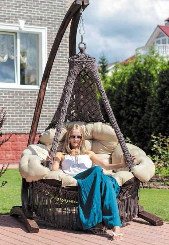 Фото №7 Кресло - гамак CARTAGENA коричневый