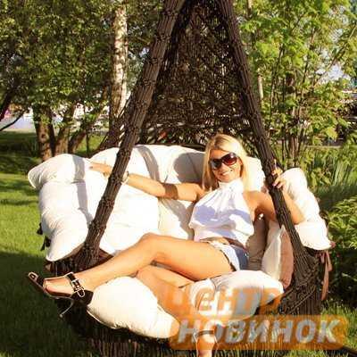 """Кресло - гамак """"Cartagena"""" коричневый фото"""