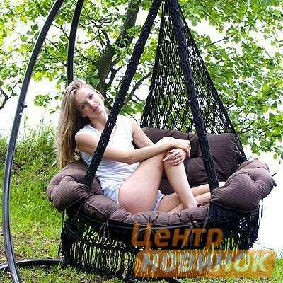 """Подвесное кресло - гамак """"ARENAL"""" с подушками (черный) фото"""