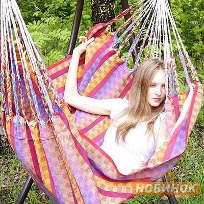 """Кресло - гамак """"Karolina"""" розовый (Колумбия) фото"""