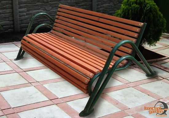 Скамья садовая ССГ-3 фото