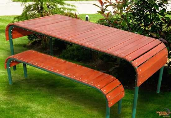 """Набор садовый """"Родео"""" (стол + 2 лавочки) фото"""