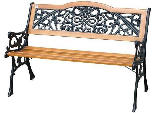 Скамейка садовая Арабеска фото