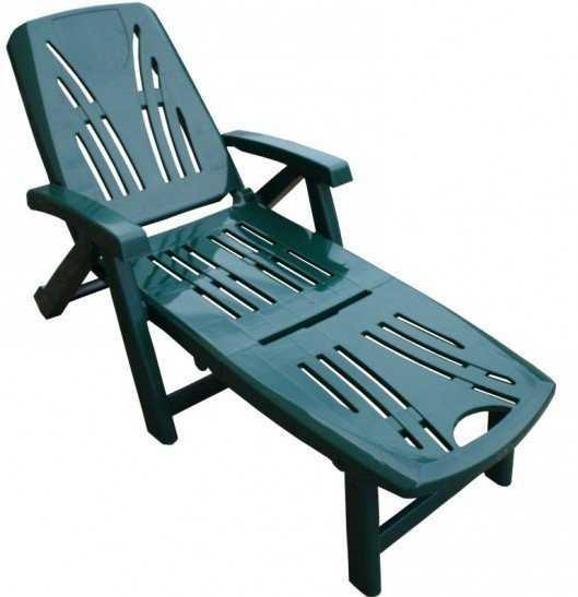 Шезлонг-лежак LETTINO зеленый фото