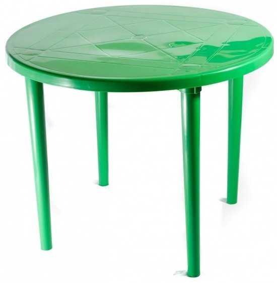 Стол пластиковый круглый 90 см фото