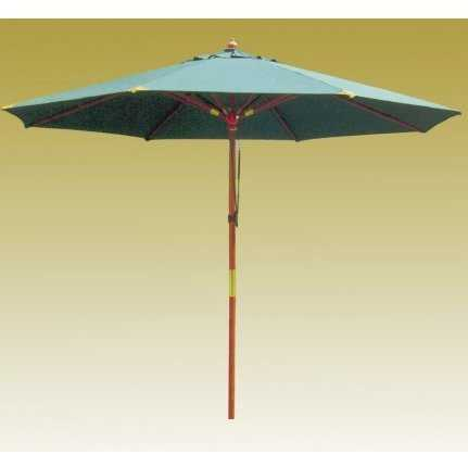 Зонт деревянный зеленый TJWU-003 фото