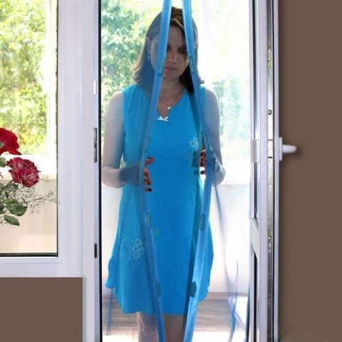 Фото №3 Москитная сетка-шторка на дверь HOME KING