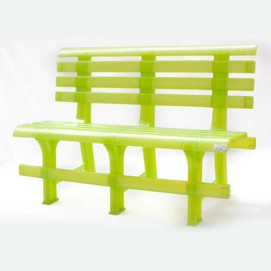 Скамейка пластиковая фото