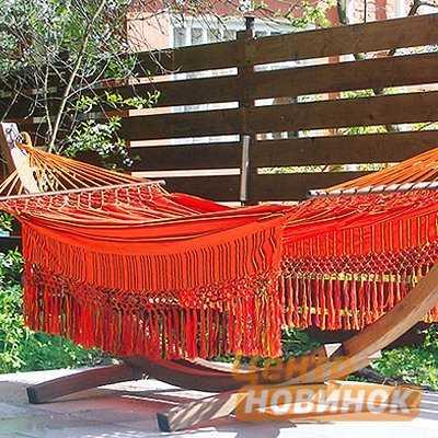 """Гамак """"KOLOMBUS"""" orange (двухместный) фото"""