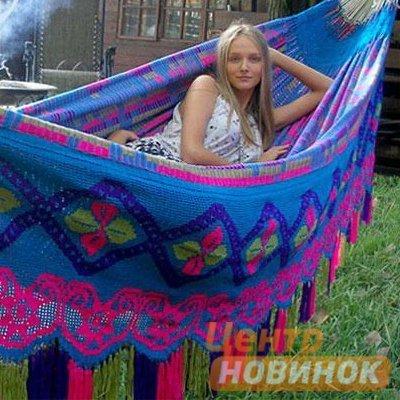 "Гамак ""Сhinchorro"" 852 розово-голубой фото"