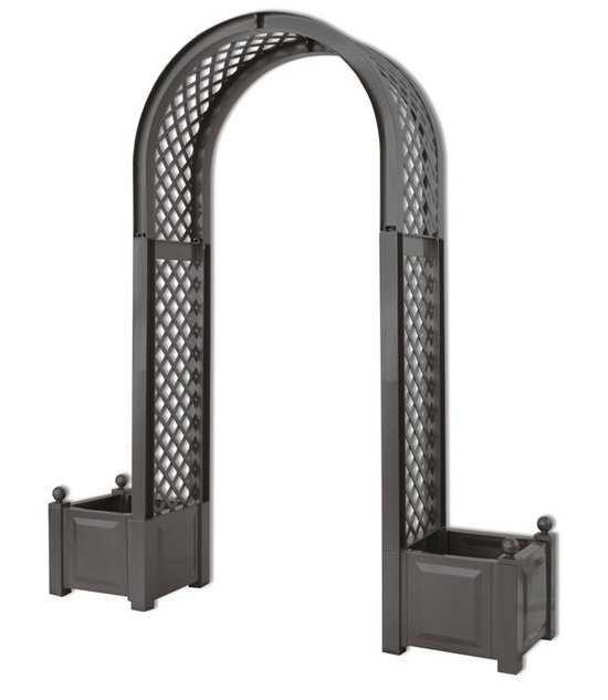 Садовая арка с ящиком для растений 37605 фото