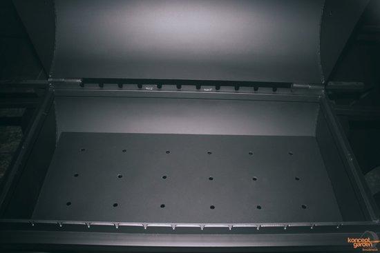 Фото №6 Мангал-коптильня с крышей и столешницами МК-8д