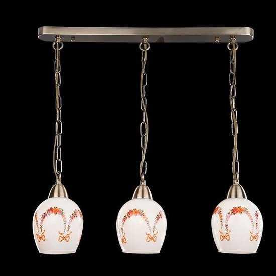 Подвесной светильник 50030/3 античная бронза фото