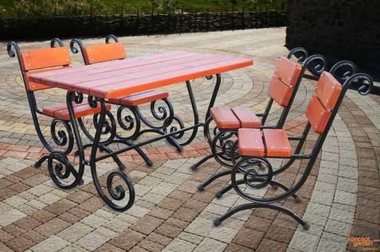 "Садовый набор ""Ажур"" (4 стула+стол) СН-4 фото"