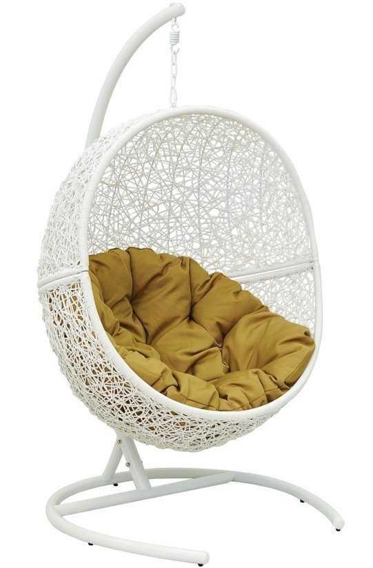 Кресло подвесное Lunar White + каркас фото