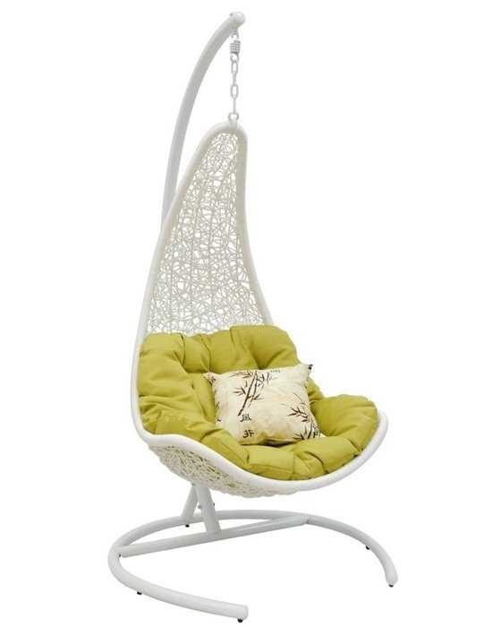 Подвесное кресло Wind white + каркас фото
