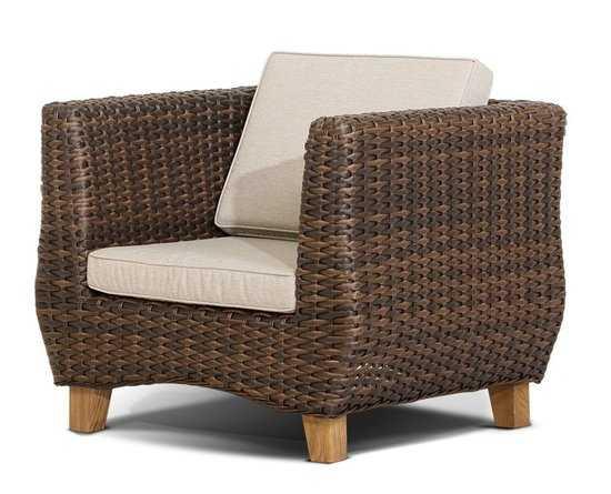 Кресло НОЛА из искусственного ротанга фото