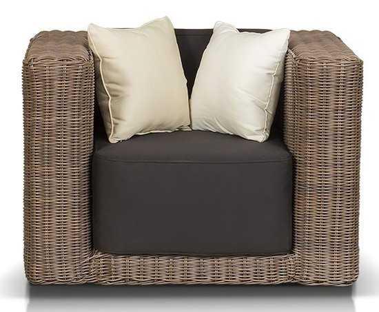 Роскошное кресло ГРАНДА из искусственного ротанга фото