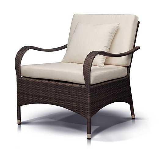 Кресло ПЬЕМОНТ из искусственного ротанга фото