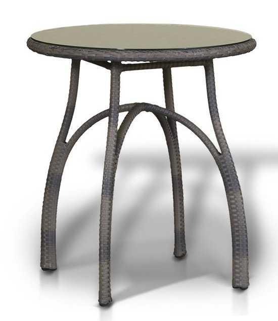 Круглый стол ФОРЛИ из искусственного ротанга фото