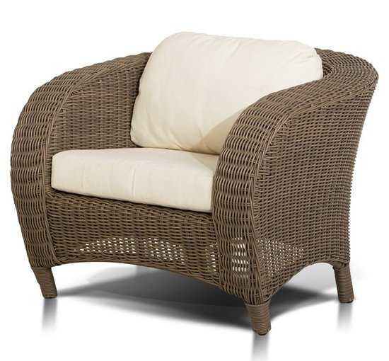 Кресло Римини в современном стиле из искусственного ротанга фото