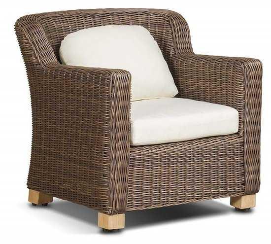 кресло Либрари из искусственного ротанга фото