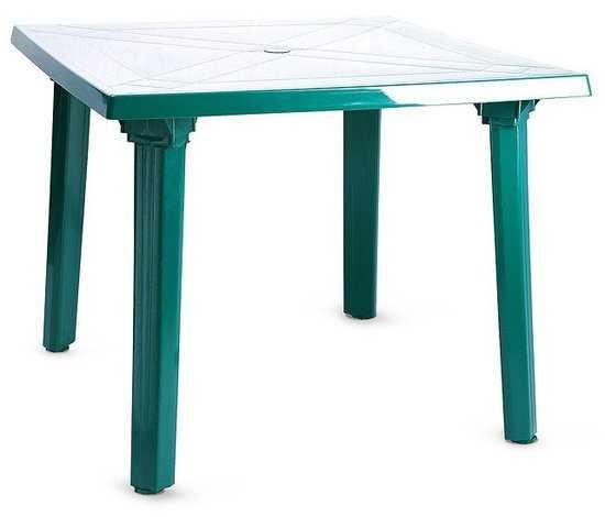 Стол пластиковый квадратный ЛЮКС 90 х 90 см фото
