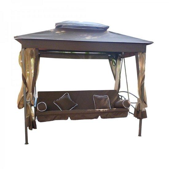 Садовые качели-беседка KVIMOL с москитной сеткой KVIMOL KM-083 фото