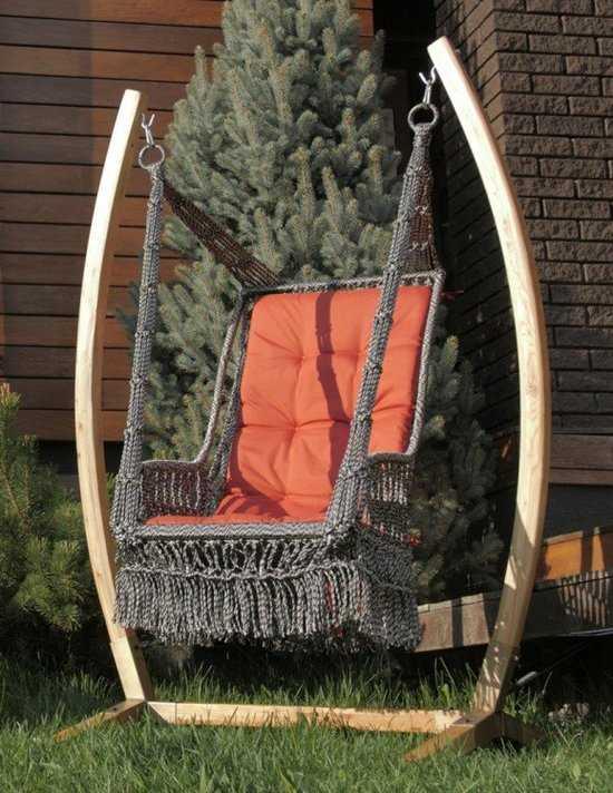 Фото №4 Деревянный каркас ФОРК для подвесного кресла качелей ИНКА