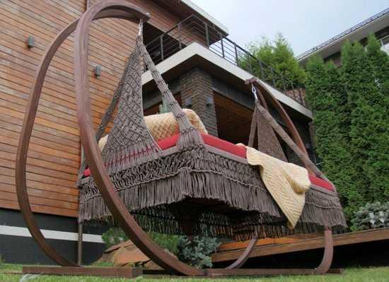 Фото №7 Деревянный каркас для подвесных качелей МАРРАКЕШ