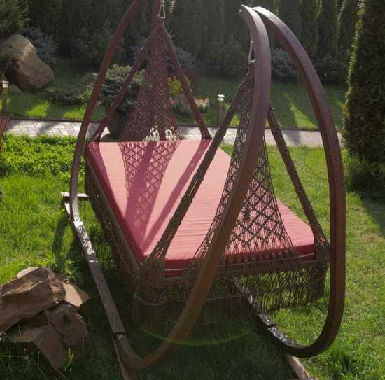 Деревянный каркас для подвесных качелей МАРРАКЕШ фото