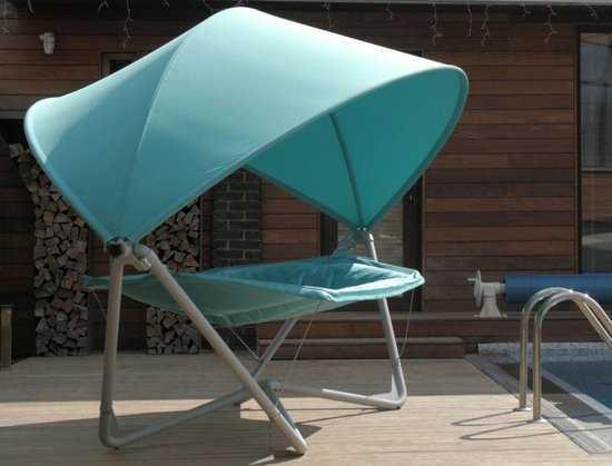 Фото №4 Подвесное кресло гамак ИБИЦА (цвет бирюзовый)