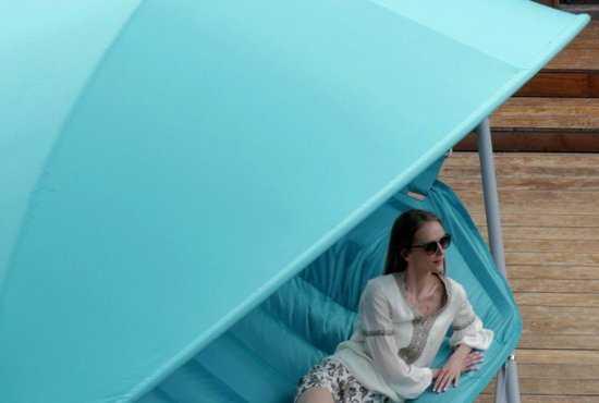 Фото №8 Подвесное кресло гамак ИБИЦА (цвет бирюзовый)