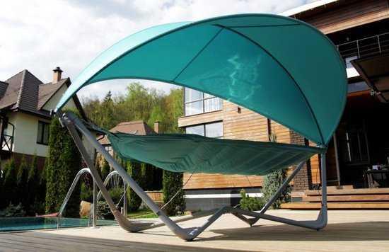 Фото №10 Подвесное кресло гамак ИБИЦА (цвет бирюзовый)