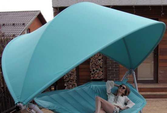 Фото №2 Подвесное кресло гамак ИБИЦА (цвет бирюзовый)