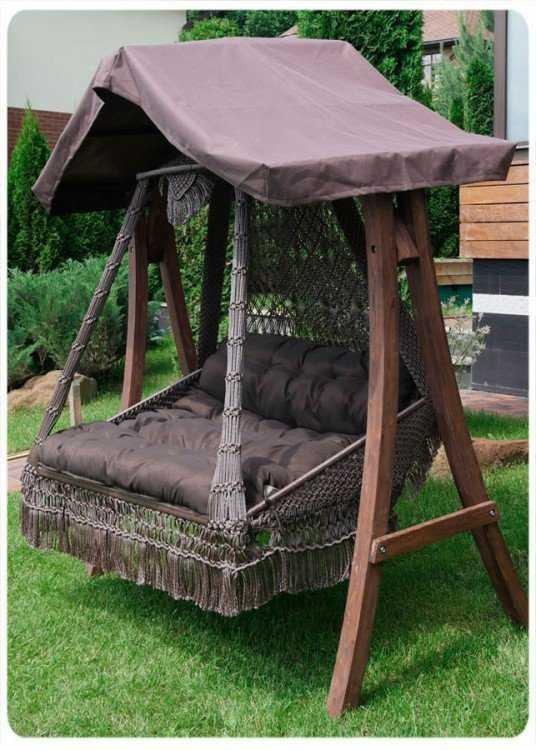 Фото №14 Подвесное кресло качели SEARA в комплекте с подушками (без каркаса)