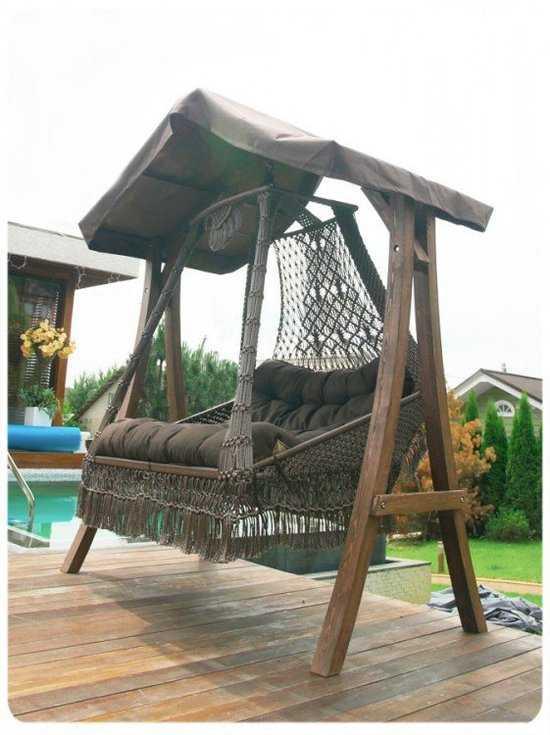 Фото №4 Подвесное кресло качели SEARA в комплекте с подушками (без каркаса)