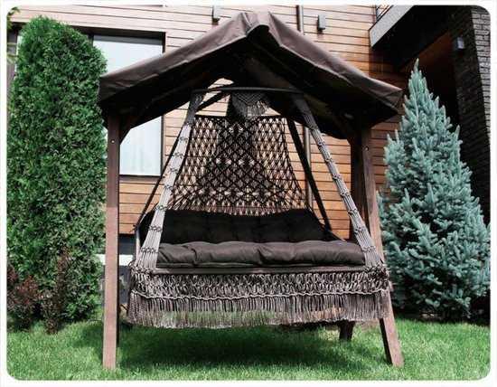 Фото №5 Подвесное кресло качели SEARA в комплекте с подушками (без каркаса)