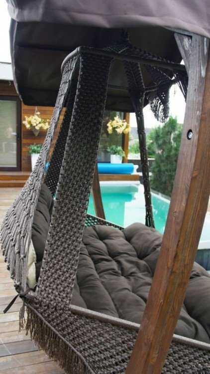 Фото №6 Подвесное кресло качели SEARA в комплекте с подушками (без каркаса)