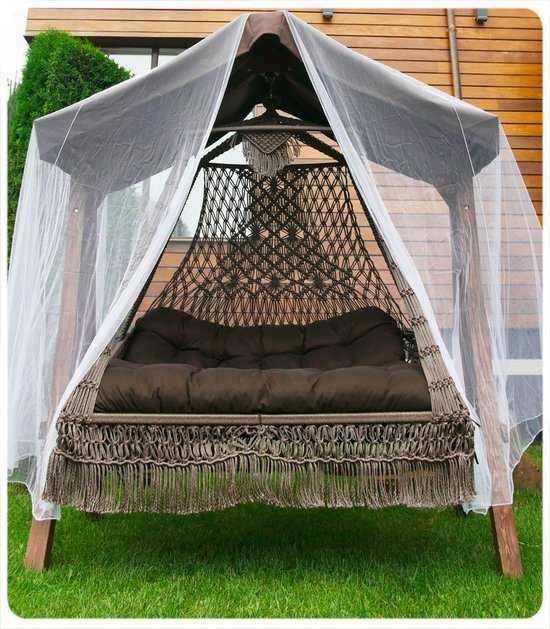 Фото №2 Подвесное кресло качели SEARA в комплекте с подушками (без каркаса)